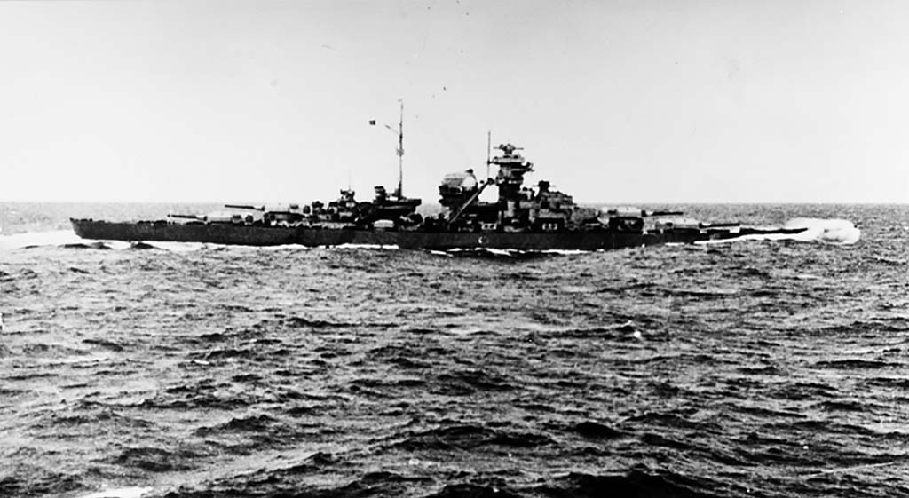 The Bismarck and her pursuers